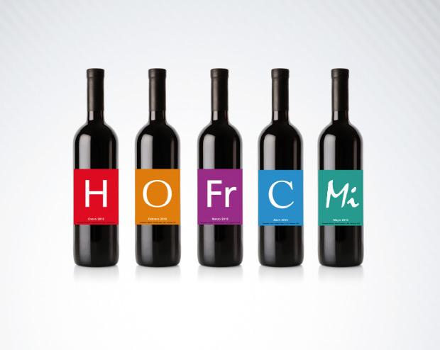 Diseño Etiquetas vino duplo clandario 2015