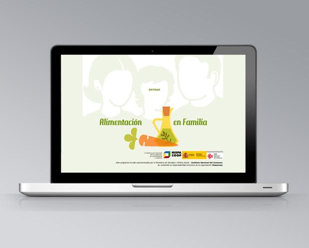 Web Alimentación en familia