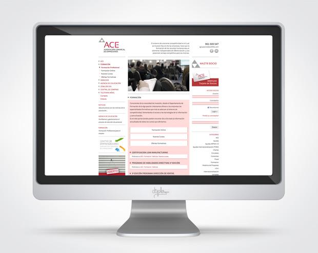 Web asociación de empresarios