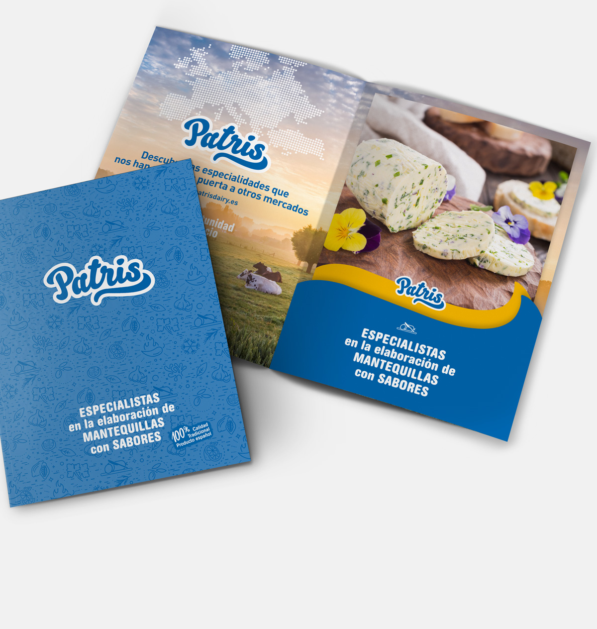 catalogo de producto marca patris mantequillas con sabores