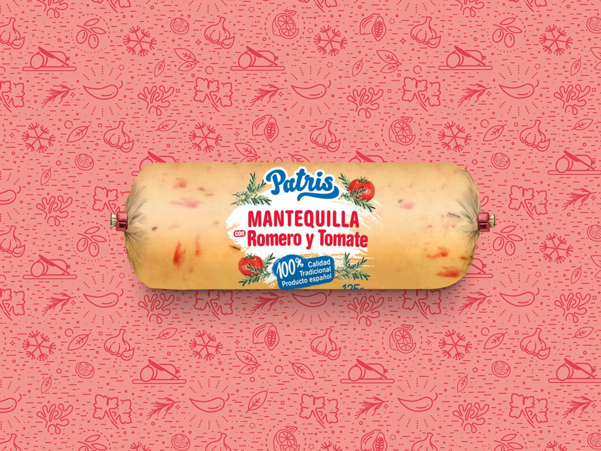 mantequilla con romero y tomate patris