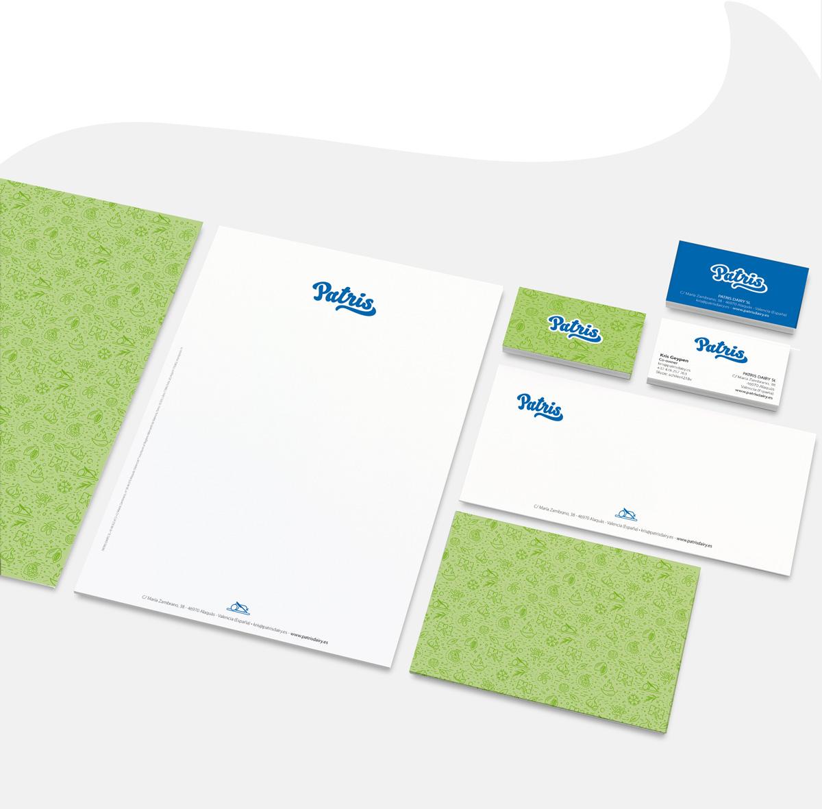identidad corporativa papeleria comercial patris