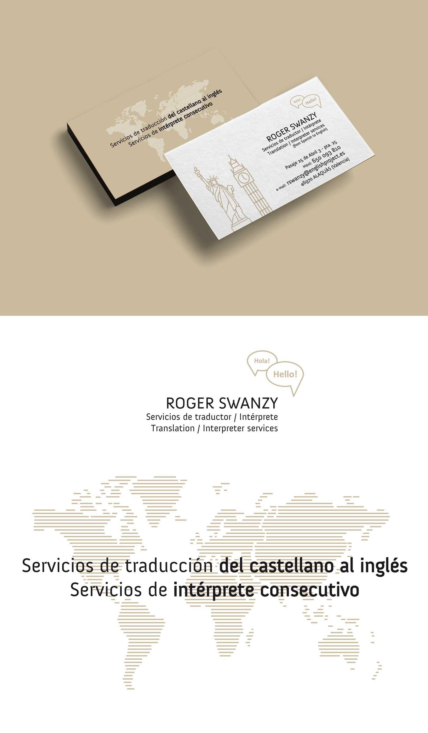 ROGER SWANZY Servicios de traductor / Intérprete