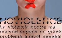 Diseño Tipografía No Violence | DUPLO Comunicación Gráfica | Estudio de diseño gráfico, web y editorial.