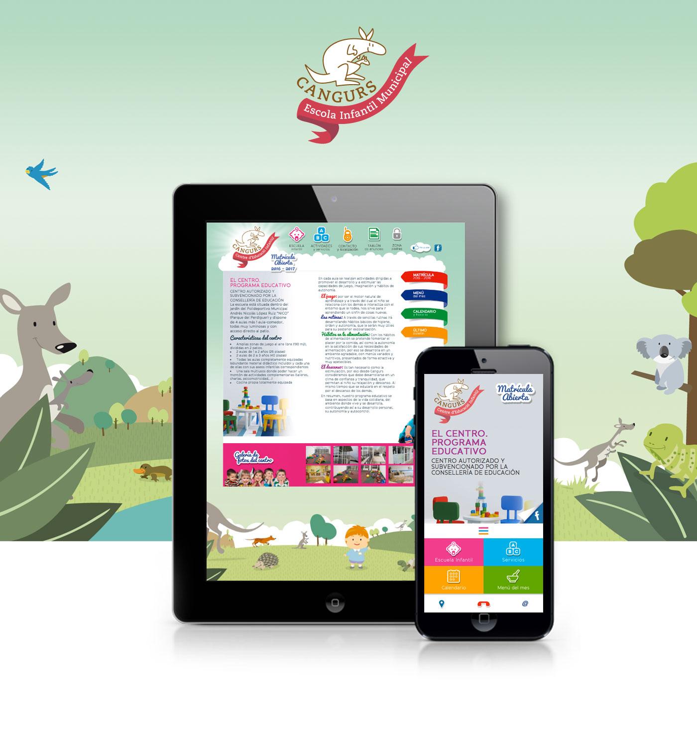 Diseño responsive web y app web para guardería en valencia