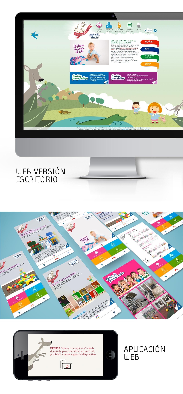 Diseño responsive web y app web para escuela infantil valencia