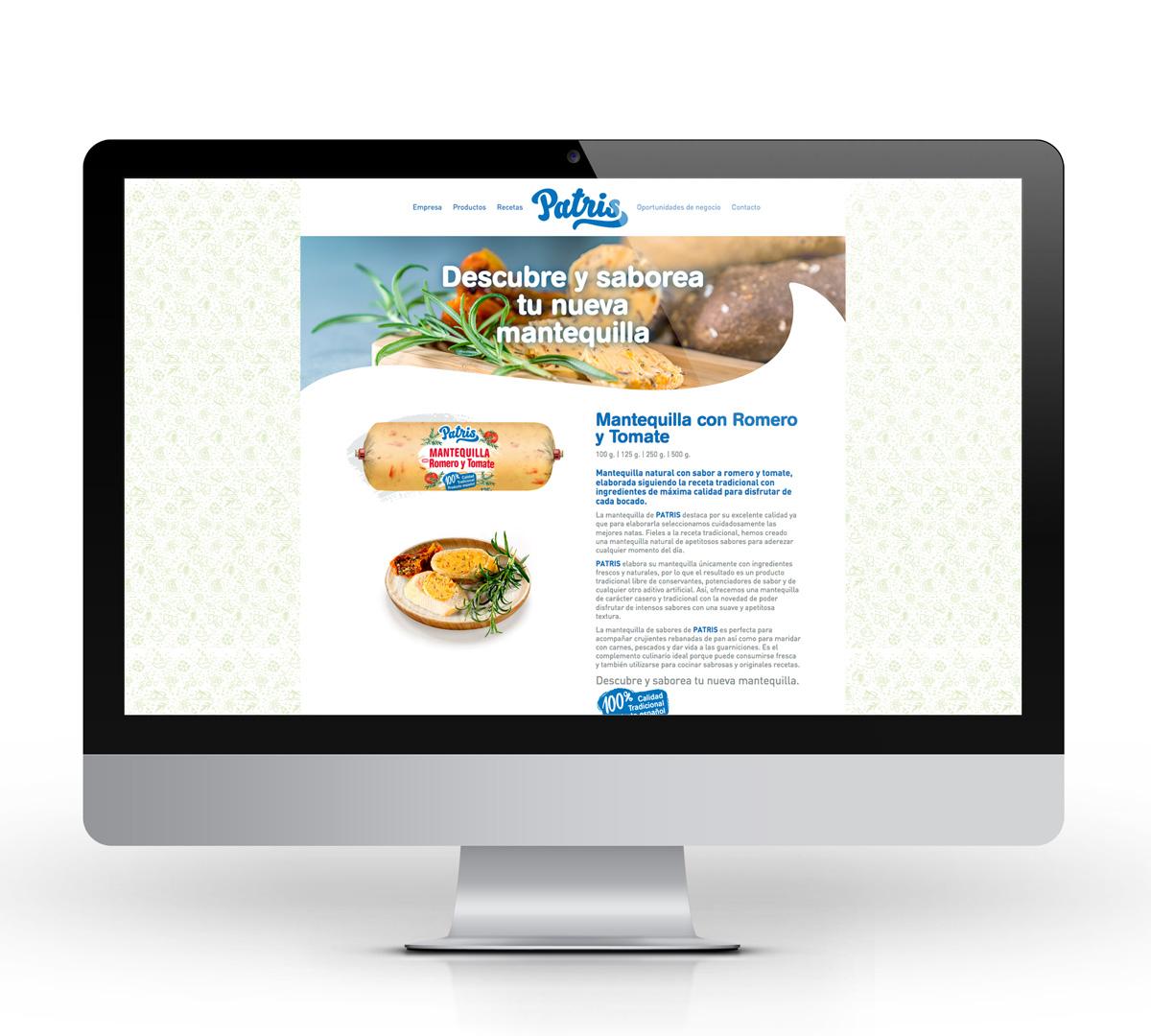 Desarrollo web patris mantequilla con sabores